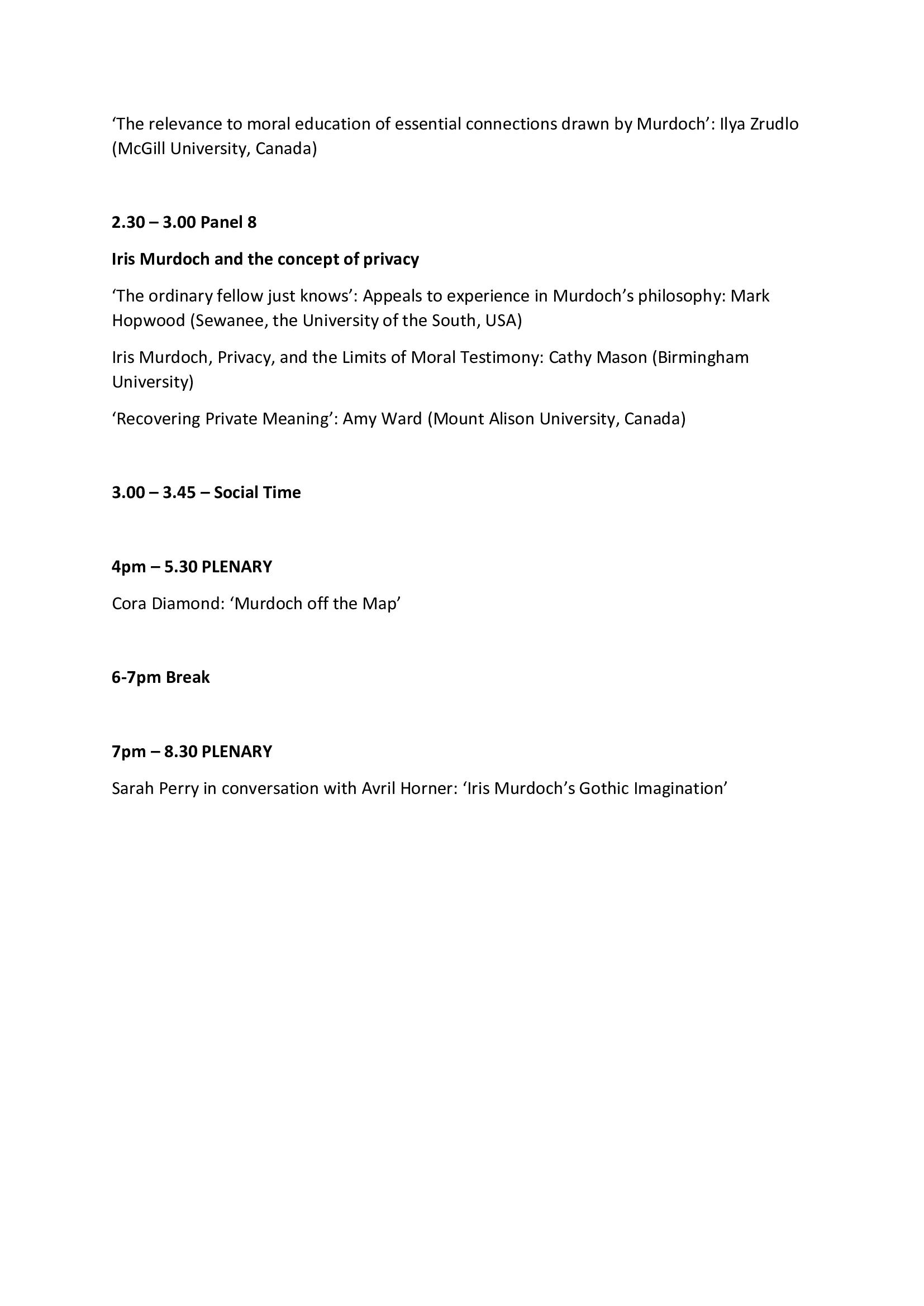 Online Conference Programme 3/3